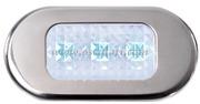 Accessori Nautica Luce cortesia inox 3 LED blu  [1318103]<br/><font color=#962308>Quantità Minima: 2 pezzi (6.01€ al p.zo) </font>