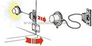 Accessori Nautica Luce ABS bianco per armadi  [1389300]