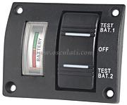 Accessori Nautica Pannellino tester per 2 batterie stagno  [1410004]