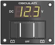 Accessori Nautica Pannellino tester digitale per 2 batterie stagno  [1410005]