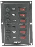 Accessori Nautica Pannello 6 interruttori verticale  [1410331]
