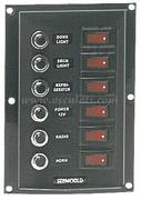 Accessori Nautica Pannello 6 interruttori+6 fusibili vericale  [1410338]