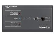 Pannello battery alarm, tensione troppo bassa o alta viene segnalata con un allarme sonoro e visivo