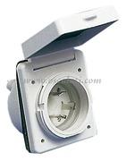 Accessori NauticiPRESA impermeabile IP 56 Materiale:abs Colore:bianco
