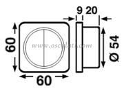 Accessori Nautica Interruttore singolo cromato/nero  [1448602]