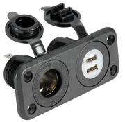 Accessori Nautica Presa accendisigari + doppia USB  [1451602]