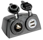 Accessori Nautica Presa accendisigari + doppia USB con carenatura  [1451604]