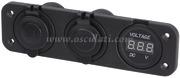 Accessori Nautica Voltmetro digitale, presa corrente e USB doppia  [1451723]