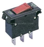 Interruttore termico resettabile a bascula