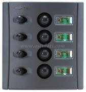 Accessori Nautica Pannello elettrico fusibili automatici doppio LED  [1485004]