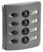 Pannelli elettrici con fusibili automatici e doppio LED