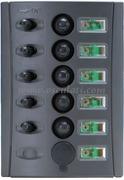 Accessori Nautica Pannello elettrico fusibili automatici doppio LED  [1485005]