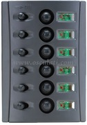Accessori Nautica Pannello elettrico fusibili automatici doppio LED  [1485006]