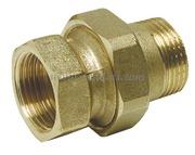 Raccordo diritto 3 pezzi con cannotto e tenuta sfero-conica e o-ring