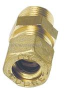 Raccordo a compressione in ottone per tubo in rame con tenuta Bicono Ottone