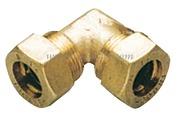 Raccordo a compressione in ottone per tubo in rame con tenuta 0 Ring