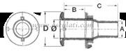 Accessori Nautica Scarico a mare inox 3/8'' x 15 mm  [1752310]<br/><font color=#962308>Quantità Minima: 2 pezzi (6.95€ al p.zo) </font>