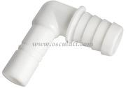 Raccordo cilindrico a gomito per tubo 20 mm