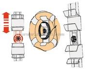 Supporto regolabile per salvagente anulari e kit montaggio