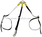 Accessori NauticiSospendite in poliestere per sollevamento tender a tre bracci, con 1 moschettone (prua) e 2 cinghie per tubolare posteriore
