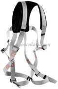 Combinazione cintura di sicurezza piu` bansigo per salire in testa d`albero - MODELLO completo di cinghie per fasciare le cosce