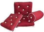 Cuscino in cotone impermeabile - sempliceBordeaux