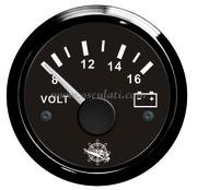 Accessori Nautica Voltmetro 8/16 V nero/nera  [2732014]