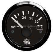 Accessori Nautica Voltmetro 18/32 V nero/nera  [2732015]