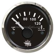 Accessori Nautica Indicatore temperaura acqua 40/120 gradi nero/lucida  [2732108]