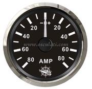 Accessori Nautica Amperometro con shunt 80 A nero/lucida  [2732124]