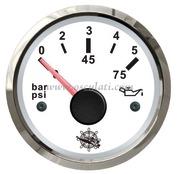 Accessori Nautica Indicatore pressione olio 0-5 bar bianco/lucida  [2732210]