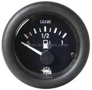 Indicatore livello carburante 10-180 ohm - Quadrante nero lunetta nera - 12 Volt - Misure mm: (A: 59) (B: 52) (C: 45)