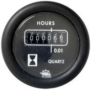 Contaore - Quadrante nero lunetta nera - 12 Volt - Misure mm: (A: 59) (B: 52) (C: 45)
