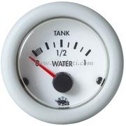 Indicatore livello acqua 10-180 ohm - Quadrante bianco lunetta bianca - 12 Volt - Misure mm: (A: 59) (B: 52) (C: 45)
