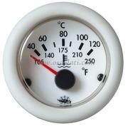 Indicatore temperatura - Quadrante bianco ghiera bianca - Tipo: H2o 40 gradi-120 gradi - 12 Volt - Misure mm: (A: 59) (B: 52) (C: 45)