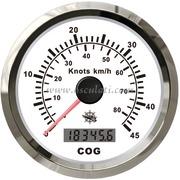 Spidometro / contamiglia GPS senza trasduttore - Quadrante bianco, lunetta lucida - 12 V Tipo 1 [2778001]