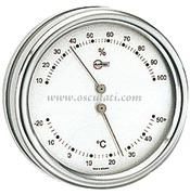 Accessori Nautica Termo/igrometro Barigo Orion quadrante argento  [2808390]