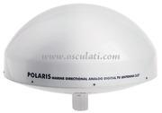 Accessori NauticiAntenna direttiva TV GLOMEX Polaris V9130, a rotazione elettrica tramite telecomando