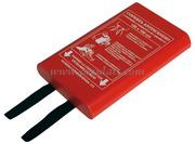 Coperta antincendio - Regolamentare certificata in accordo con la ISO/DCS 9094-1-3, da installare in prossimita` della cucina