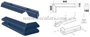 Accessori NauticiProtezione per pontili/banchine in morbido EVA stampato ad iniezione pieno all'interno Blu - Tipo: SISTEMA X per angolo