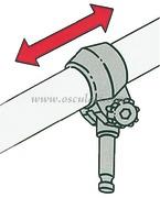Scalmi in plastica - diamatro mm: 12,0 - Lunghezza mm: 23  Con perno a scatto in ottone per remi diamatro 35 mm. [3443009]<br/><font color=#962308>Quantità Minima: 2 pezzi (5.88€ al p.zo) </font>