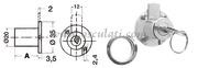 Cilindro chiusura cassetti 20 mm