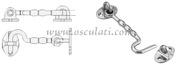 Accessori Nautica Gancio inox mm.100 tipo USA  [3817310]<br/><font color=#962308>Quantità Minima: 2 pezzi (5.75€ al p.zo) </font>