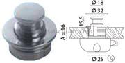 Accessori Nautica Pomello ot.cr. mm 16  [3818120]<br/><font color=#962308>Quantità Minima: 2 pezzi (7.63€ al p.zo) </font>