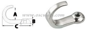 Gancetto inox 15x5,7x35,8mm