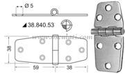 Cerniere inox 97x38 mm