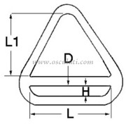 Accessori Nautica Triangolo barra inox 5x45 mm  [3960101]