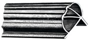 Profilo PVC flessibile per pontili 2,50 m