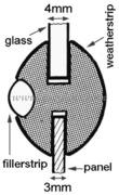 Profilo per finestrini 26 x 20 mm