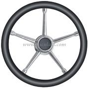 Volante A inox/nero 350 mm  [4513501]Accessori Nautici